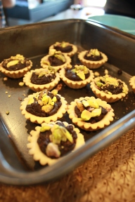 Try using the pounded nuts for a pastry- chocolate tartlets!