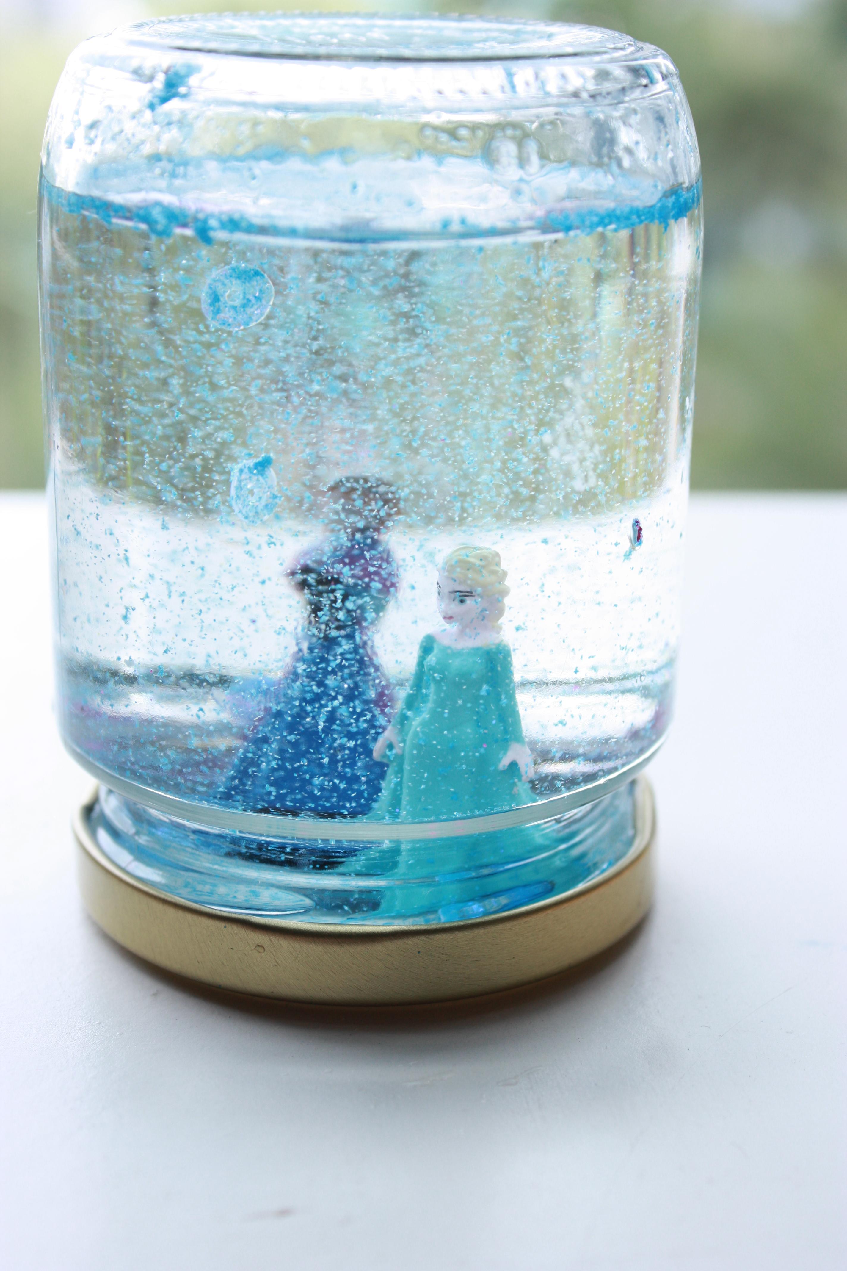 Baby Food Jar Snow Globes Frozen Snow Globe! | P...